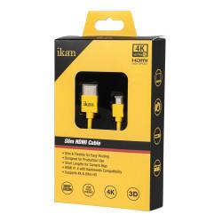 Ikan Slim HDMI Cable Corto HDMI a Micro HDMI 45cm High Speed  4K