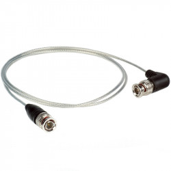Ikan Cable SDI 90cm corto y delgado con Conector BNC Standard / 90 grados