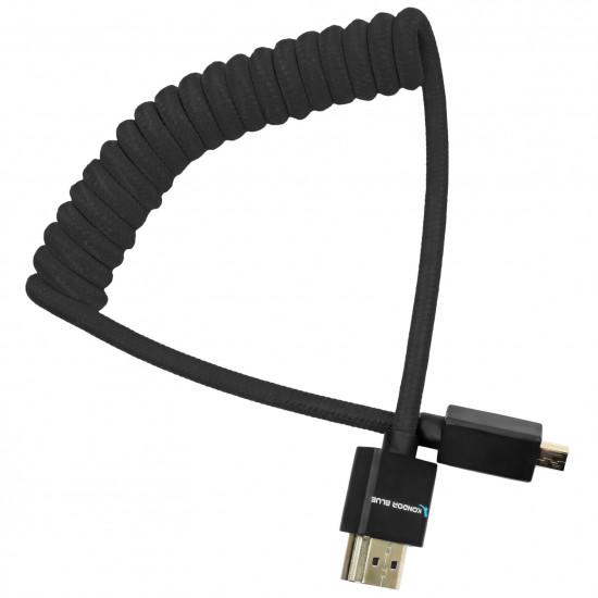 Kondor Blue Cable Micro HDMI a HDMI 30cm - 45cm coiled Black