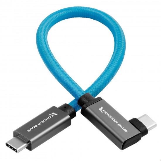 Kondor Blue Cable USB-C a USB-C L 3.1 GEN 2 100 W 10Gbps Thunderbolt 3