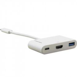 Kramer Adaptador USB-C a HDMI hasta 4K @ 60Hz (4: 4: 4) y USB 3.0 y cable adaptador PD