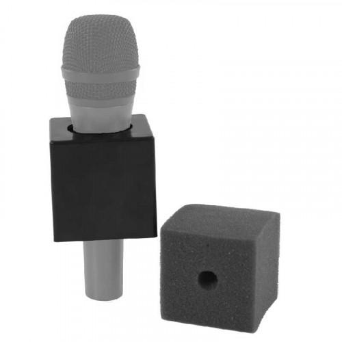 "K-Tek KMICF Portalogo ""Micflag"" negro Cuadrado para Micrófono de mano 6,35cm x 6,35cm"