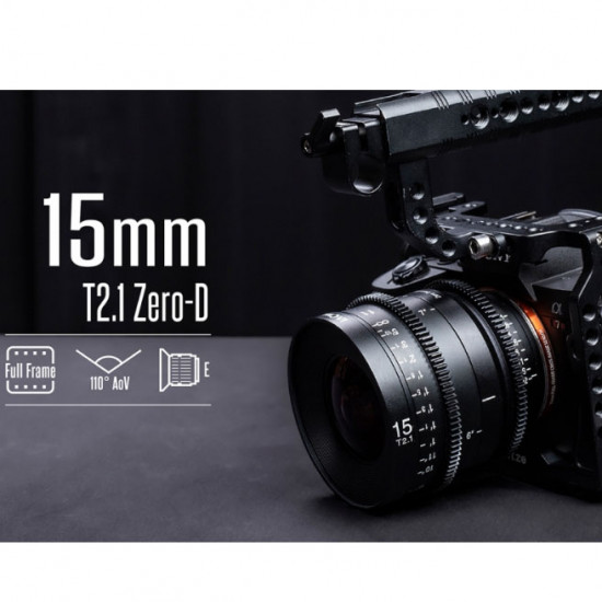 Venus Optics Laowa Prime 15mm T2.1 Zero-D Cine Lens (RF)