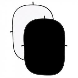 Angler Fondo Colapsable de Tela Blanco/Negro de 1.5 x 2.1 mts