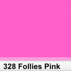 Lee Filters  328S Pliego Follies Pink 50cm x 60 cm