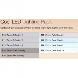 Lee Filters ZPCLED Zircon Pack de filtros Cool LED 30x30cm