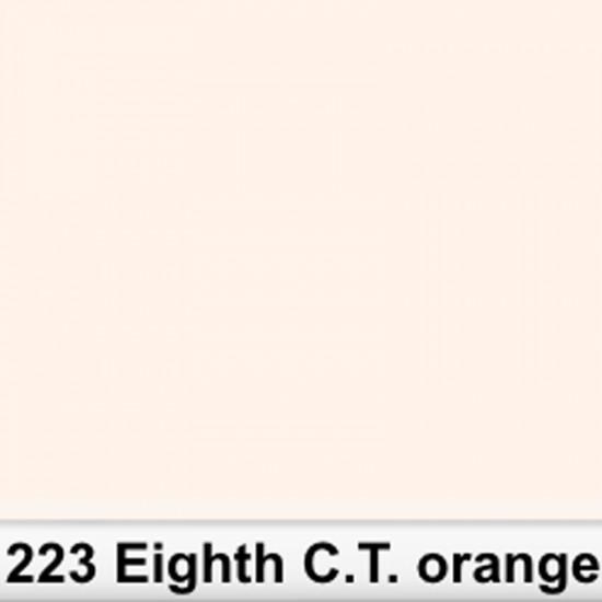 Lee Filters 223R Rollo 1/8 C.T.Orange 1.22 x 7.62 MTS