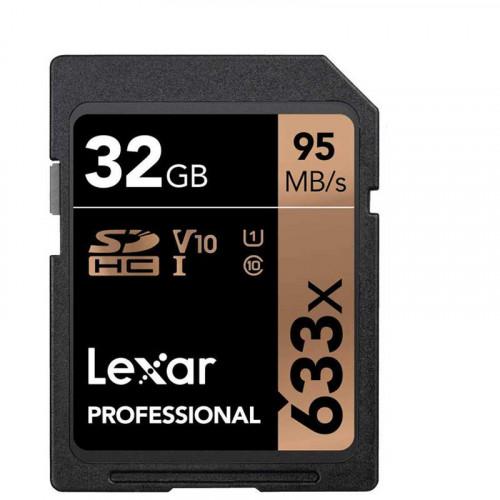 Lexar SDHC 32GB UHS-I / U1 Lectura 95MB/s Escritura 20MB/s V10