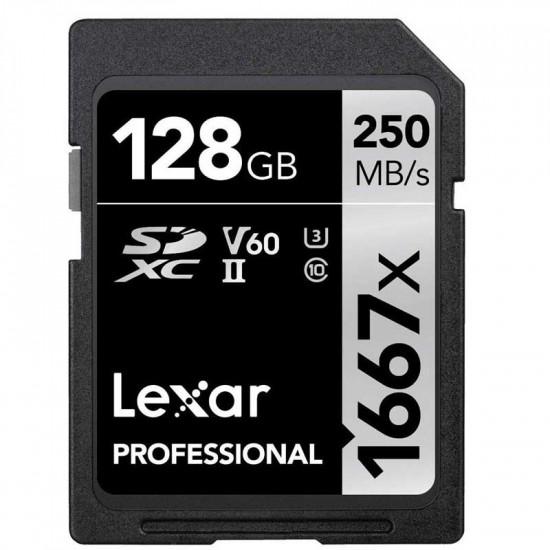 Lexar SDXC 128GB V60 4K UHS-II U3 Lectura 250MB/s / 90MBs