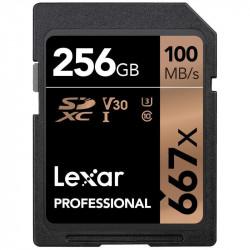Lexar SDHC 256GB UHS-I / U1 Lectura 100MB/s Escritura 45MB/s V30