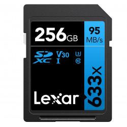 Lexar SDHC 256GB UHS-I / U1 Lectura 95MB/s Escritura 45MB/s V30