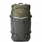 Lowepro FlipSide Trek BP 350 AW Mochila para cámara y tablet (gris / verde oscuro)