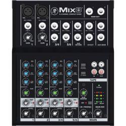 Mackie MIX8  Mixer Compacto de 8 Canales / 2 Mic