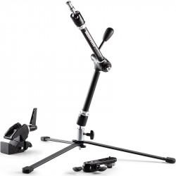 Manfrotto 143 Magic Arm Brazo con soporte de cámara, clamp y base