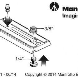 Manfrotto 501PL Galleta / Plate  para cabezal