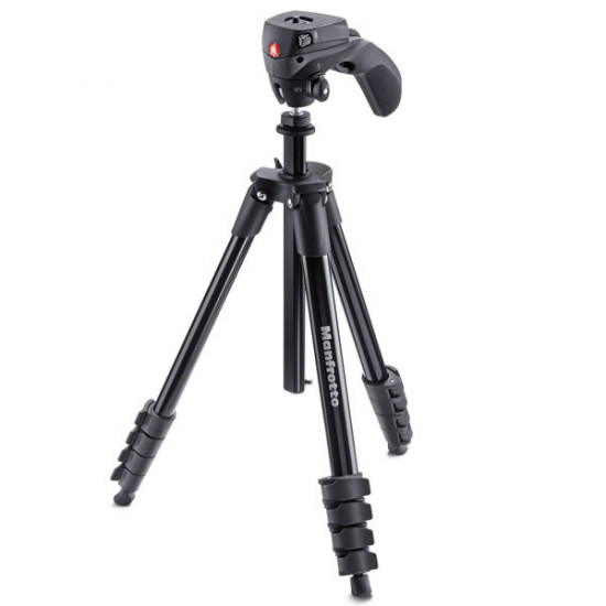 Manfrotto Kit Tripode Action con agarre Smartphone + Led Light 6 Leds