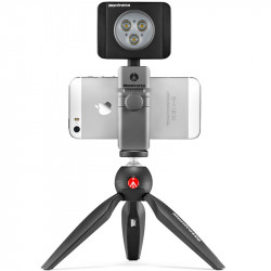 Manfrotto Kit Smartphone TwistGrip + Led LumiMuse 3 leds + Pixi