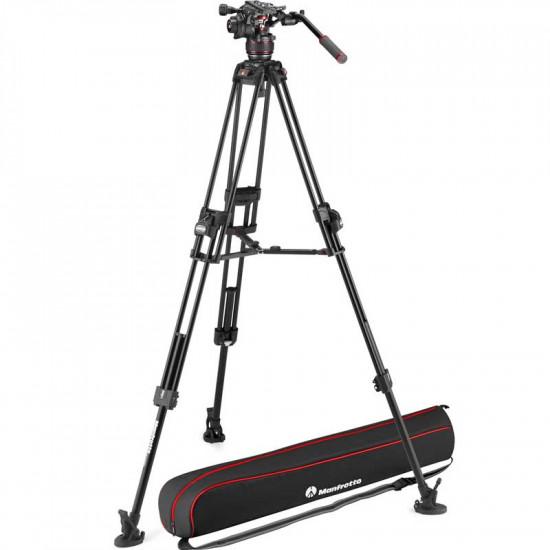 Manfrotto Kit FAST Nitrotech 608 Cabezal Video con trípode 645 FAST