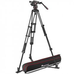 Manfrotto Kit Nitrotech 608 Cabezal Video con trípode alumino estrella a piso