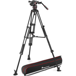 Manfrotto Kit Nitrotech 608 Cabezal Video con trípode alumino Twin