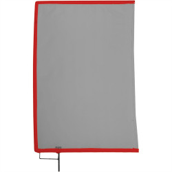 "Matthews Bandera Doble Black Open End Scrim 60cm x 90cm (24""x36"")"