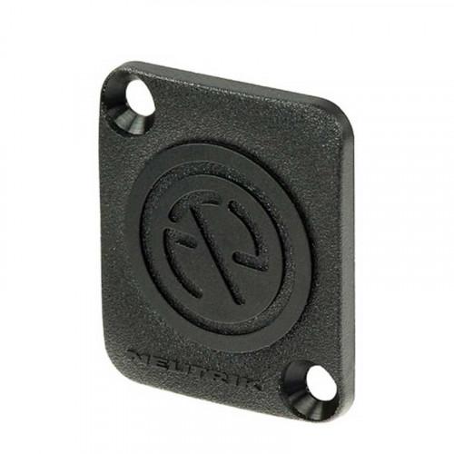 Neutrik  DBA-BL Placa Dummy  para cubrir los recortes en forma de D