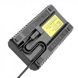 Nitecore USN4 Pro Cargador de viaje Doble USB para Sony NP-FZ100