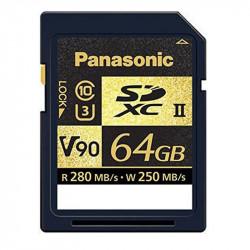 Panasonic SDXC 64GB V90 UHS-II U3 Lectura 280MB/s / 250MBs para ALL-intra