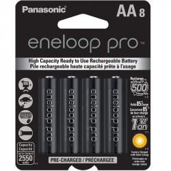Panasonic Eneloop AA  8-Baterías Ni-MH  2550 mAh