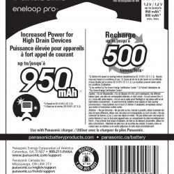 Panasonic Eneloop AAA  8-Baterías Ni-MH  950 mAh