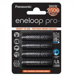 Panasonic Eneloop AA  4-Baterías Ni-MH  2550 mAh
