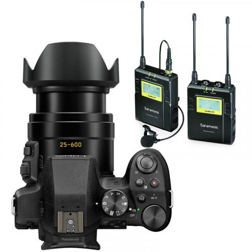 Panasonic Lumix 4K Lente F2.8 de 25-600mm en kit con Lavalier inalambrico
