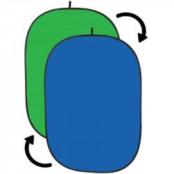 Angler Chroma Azul/verde Fondo Colapsable de Tela Chromakey de 1.5 x 2.1 mts
