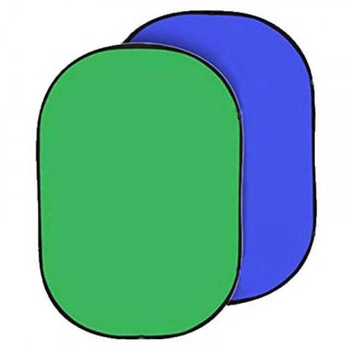 Chroma Fondo Colapsable de Tela Verde / Azul Chromakey de 1.5 x 2.1 mts