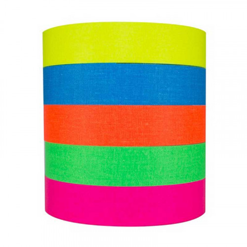 "Protapes PRO Spike stack Cinta 1"" Fluorescente 5 Colores 5.5metros"