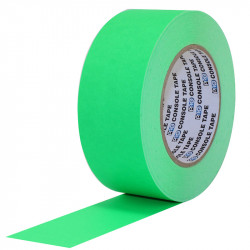 """Protapes Console Tape en 5cm / 2 """" de ancho VERDE FLUORESCENTE"""