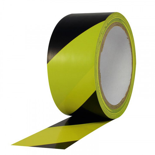 """Protapes Safety Stripes PVC para marcar carriles y pisos 3"""" x 18mts"""
