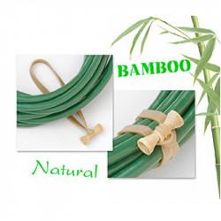Bongo Ties Grip para Organizar Cables en bambú y Hevea rubber Pack de 10