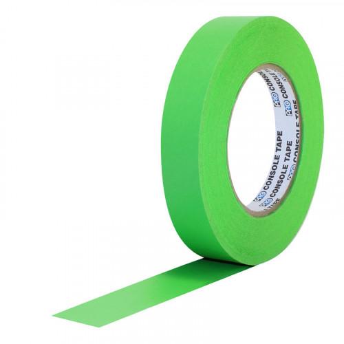 """Protapes Console Tape en 2,5cm / 1 """" de ancho VERDE FLUORESCENTE"""
