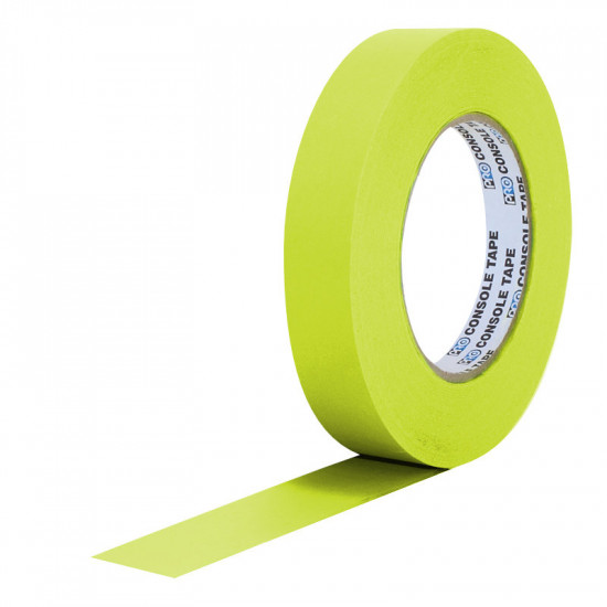 """Protapes PG1FLX20YEL Gaffer Mate Compact 1 """" x 20 yardas AMARILLO FLUORESCENTE"""
