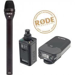 Rode Newsshooter Kit Digital Transmisor XLR + Receptor en cámara + Mic de Mano Reporter
