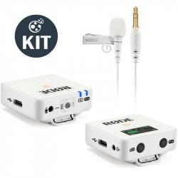 Rode Wireless GO White  Sistema de micrófono inalámbrico Blanco con lavalier