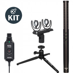 Rode Podcast Kit con Plug On XLR a Lighting NTG4+ y soporte
