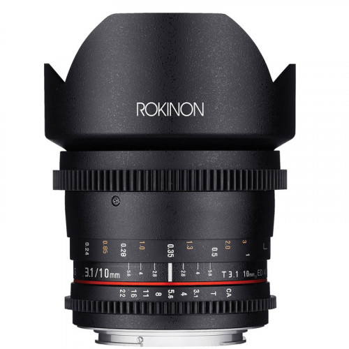 "Rokinon Lente DS Cine Ultra Wide Angle 10mm T3.1 para MFT micro 4/3"""