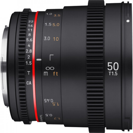 Rokinon DSX50-C Lente DSX Cine High-Speed 50mm T1.5 para Canon