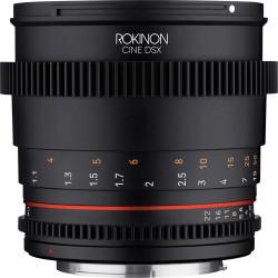 Rokinon DSX85-C Lente DSX Full Frame Telephoto 85mm T1.5 para Canon