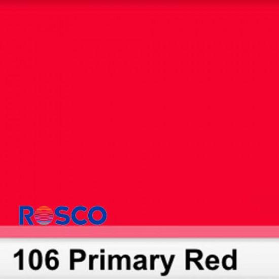 Rosco 106S Pliego Primary Red 50cm x 60 cm