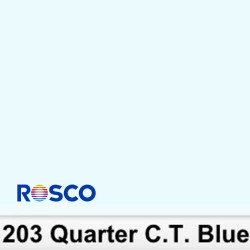 Rosco 203R Rollo 1/4 C.T.Blue  1,22 x 7,62 mts