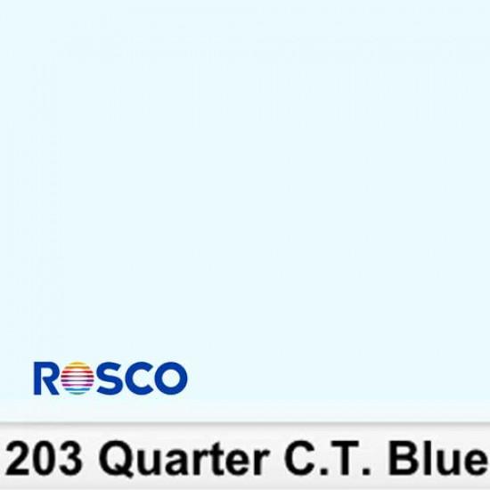 Rosco 203R Rollo 1/4 C.T.Blue  1,22 x 7,62 mts