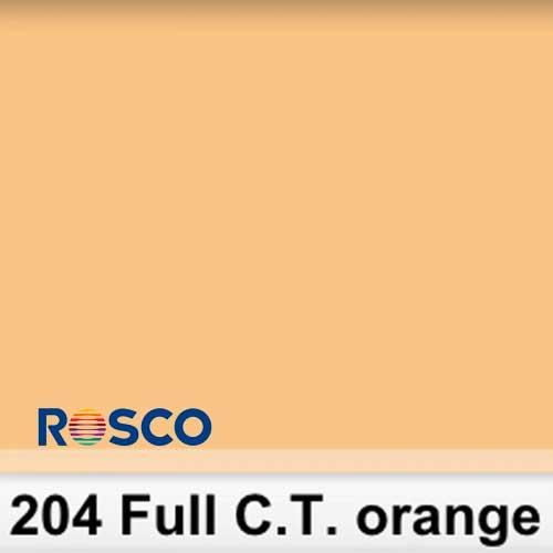 Rosco 204S Pliego Full C.T.Orange 50cm x 60 cm